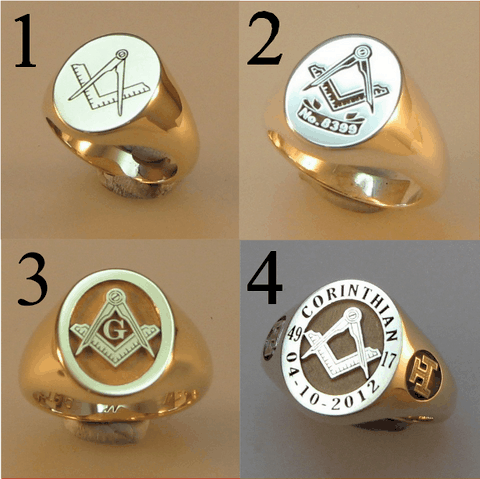 9ct gold heavyweight masonic signet ring