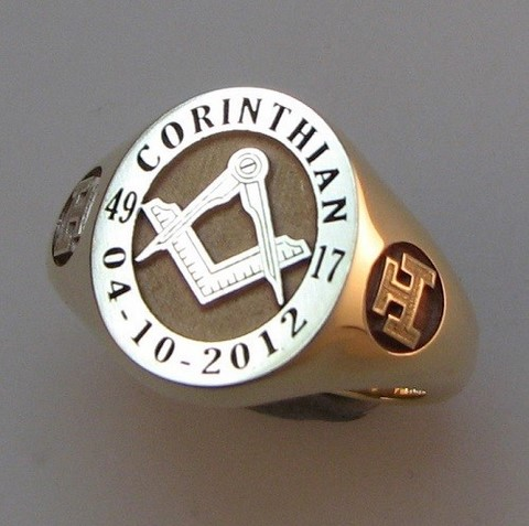 triple tau sholders on masonic signet ring