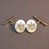 9ct chain link coat of arms cufflinks