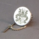 Coat of arms engraved dress stud